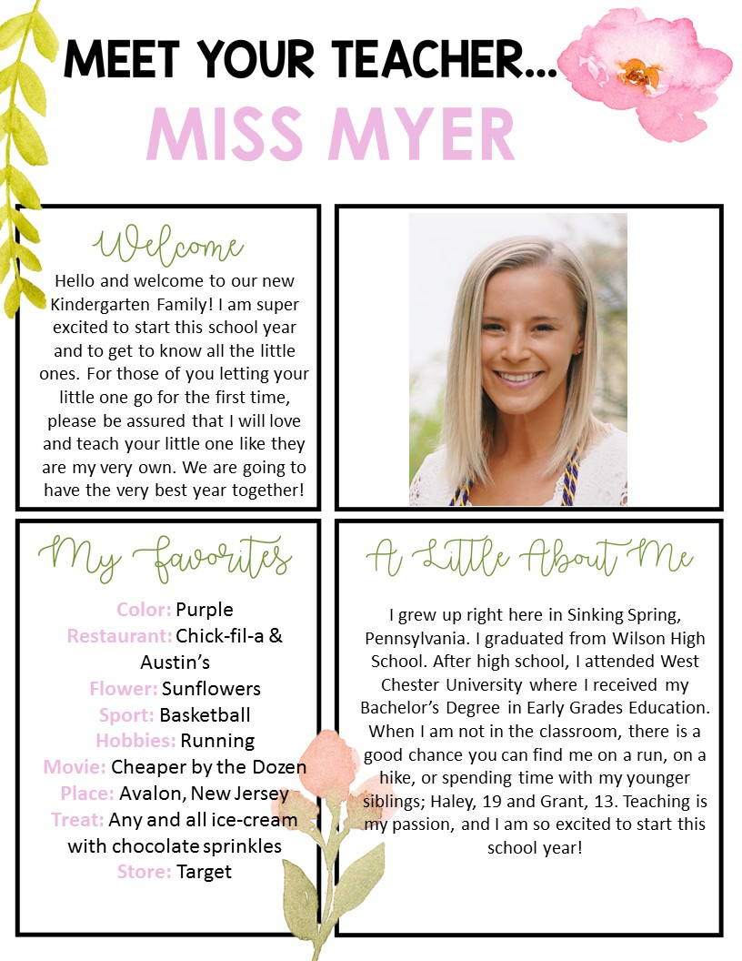 Myer, Lauren / Meet The Teacher